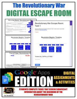 Early Revolutionary War DIGITAL Escape Room