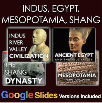 Early River Civilizations PowerPoint w/Video Clips(Egypt, Indus, Shang, Meso...)