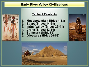 Early River Valley Civilizations Freebie