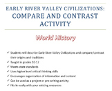 Early River Valley Civilizations - Graphic Organizer - Compare and Contrast