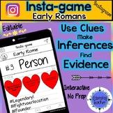 Ancient Rome Activity - Instagram (Editable Insta-game)
