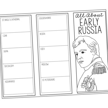 EARLY RUSSIA Research Brochure Template, World History Project