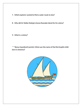 Early Settlement and Exploration Quiz
