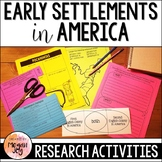 Early Settlements of America Research & Writing Projects