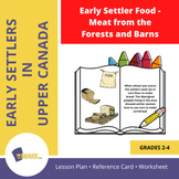Early Settler Food - Meat from the Forest and Barns Gr. 2-4