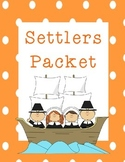 Early Settlers Packet for Elementary Students