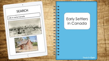 Early Settlers in Canada Google Drive Digital Resource and HyperDoc