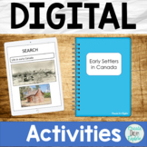 Early Settlers in Canada Google Drive Digital Resource and