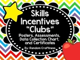 "Early Skills ""Clubs"": Posters, Assessments, Recording Chart, and Certificates"