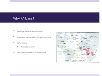 Early Slavery in US History Power Point