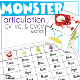 Early Sound Monster Articulation: CV, VC, and CVCV word activities for Apraxia