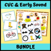 Early Sounds CVC Articulation & Apraxia Activities BUNDLE for Speech Therapy