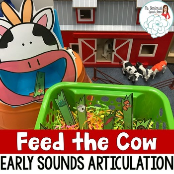 Articulation Activity Feed the Cow: Early Sounds