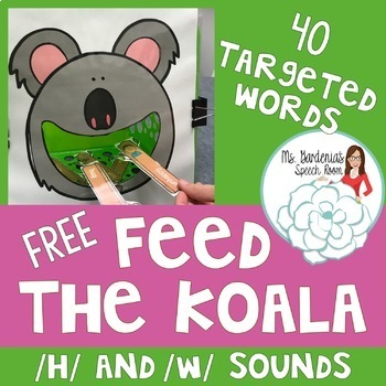 Early Sounds Articulation Feed the Koala