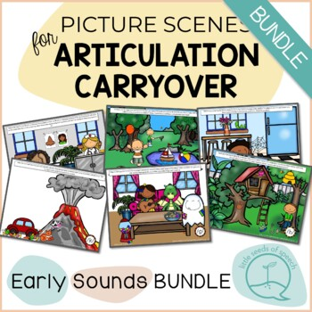 Early Sounds BUNDLE - Picture Scenes for Targeting Speech Sounds in Conversation