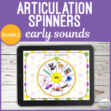 Early Sounds No Print Articulation Spinners Bundle for Speech Therapy