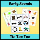 Early Sounds Tic Tac Toe: CV & CVC Artic, Apraxia: k, g, t, d, p, b, m, n, w
