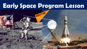 Early Space Program Lesson with Power Point, Worksheet, an