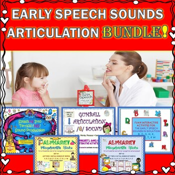 Early Speech Sounds Articulation Bundle: B, D, G, H, K, M, N, P, T, W, and NG