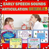 Early Speech Sounds Articulation Bundle: B, D, G, H, K, M, N, P, T, W, and more!