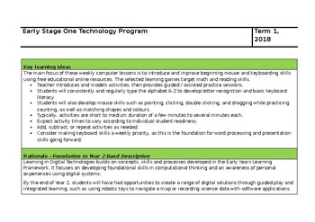 Early Stage 1 Technology Program T1