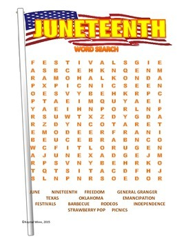 Early Summer Holidays Word Searches