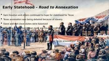 Early Texas Statehood PowerPoint