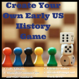 Early US History Create Your Own Board Game Project Coloni