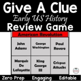 Early US History Give a Clue Review Game - Great for 8th STAAR Review!