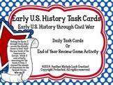 Early US History Important People Task Cards United States