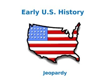 Early U.S. History Jeopardy-Style Trivia Game
