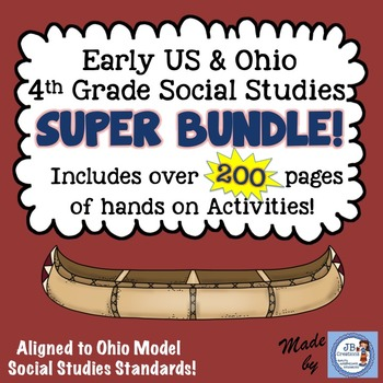 Early United States & Ohio Social Studies Intermediate Super Bundle