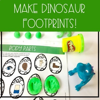 Early Vocabulary- Dino {play dough} Dash