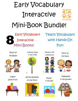 Early Vocabulary Interactive Mini-Book Bundle