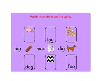 Early Word Study for -ag -am Word Families