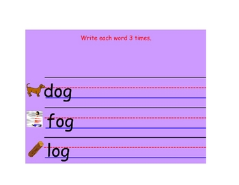 Early Word Study for -at -ot Word Families
