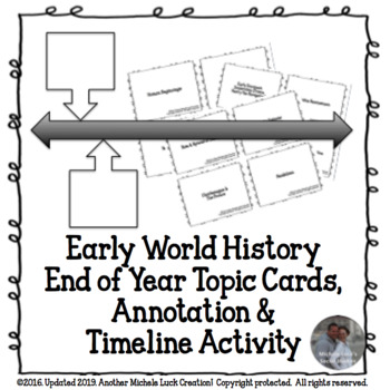 Early World History End of Year Review Analysis, Annotation & Timeline Activity