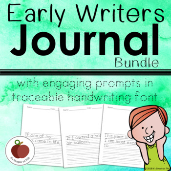 Journal Prompts fro Beginning Writers - Bundle - Handwriting - Tracing
