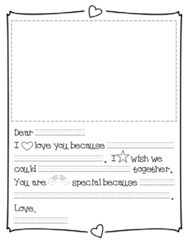 Early Writers Writing Template - Family & Friends Letter Writing