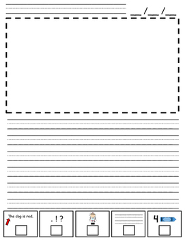 Early Writers Writing Template - Helps Students Self-Monitor Their Writing