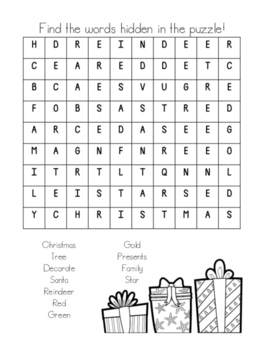 Early Year's Christmas Activities
