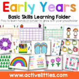 Early Years Basic Skills Learning Folder (Learning Binder)