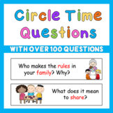 Early Years PreK Circle Time Questions