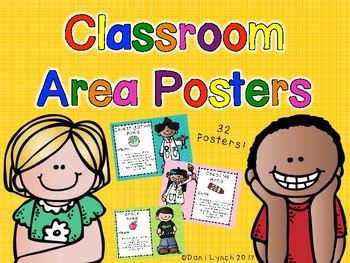 Early Years Classroom Area Posters