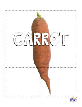 Vegetable Puzzles English Language Arts for Kids
