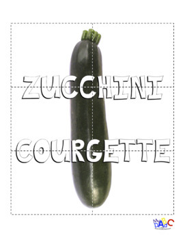 Vegetable-Légume PUZZLES for Kids | Delicious French and English Language Fun