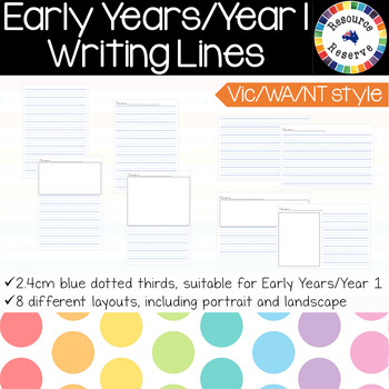 Handwriting Lines - Early Years/Foundation/Year 1 {Vic/WA/NT style}