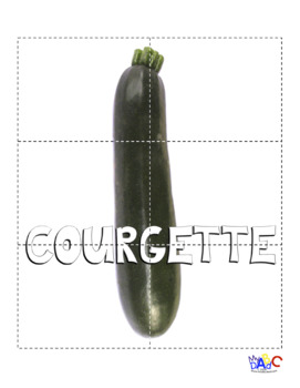 French Healthy Living Vegetable Puzzles
