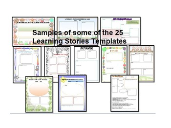 Eylf program template teaching resources teachers pay teachers eylf early years learning framework bundle learning story and complete template maxwellsz