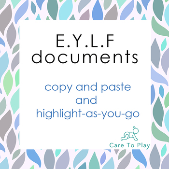 Doc: Copy n Paste E.Y.L.F. Learning Outcomes Resource